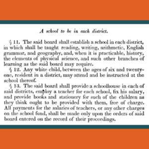 1849 Code of Virginia school segregation excerpt